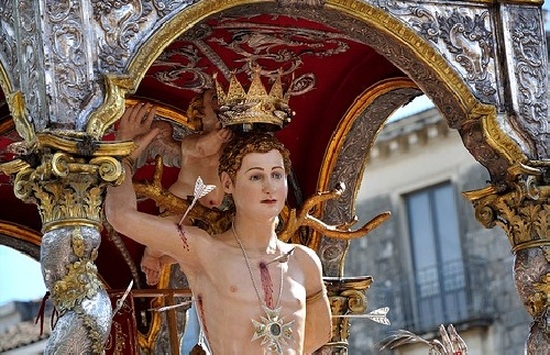 Festa di San Sebastiano Acireale Foto