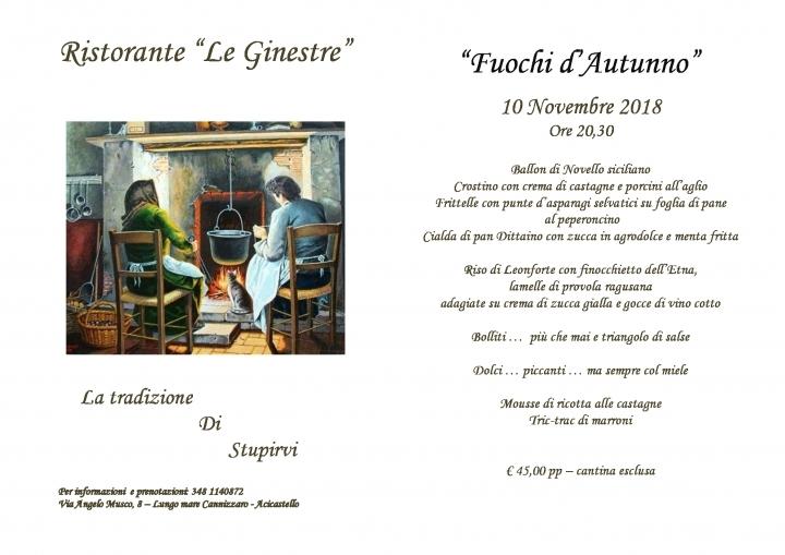 Apertura Ristorante Le Ginestre Lungomare Acicastello Foto