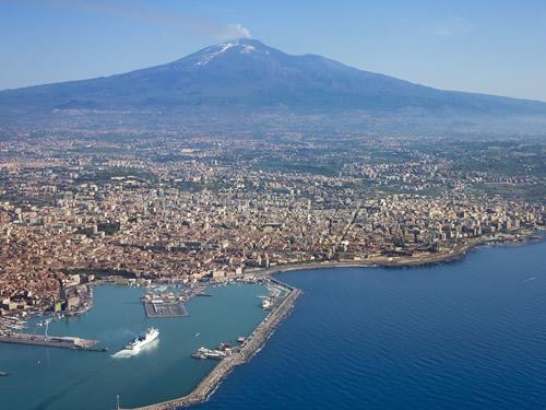 etna vulcano montagna foto